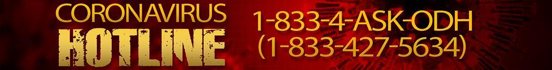 Coronavirus hotline banner