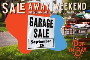 Island wide garage sale sign