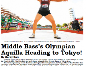 July 2021 Put-in-Bay Gazette – Middle Bass's Olympian Aquilla Heading to Tokyo!