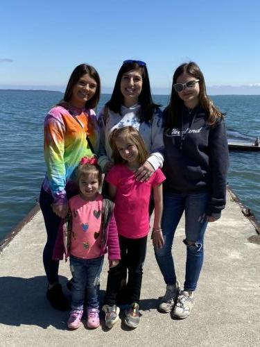 Kids on Lake Erie Dock